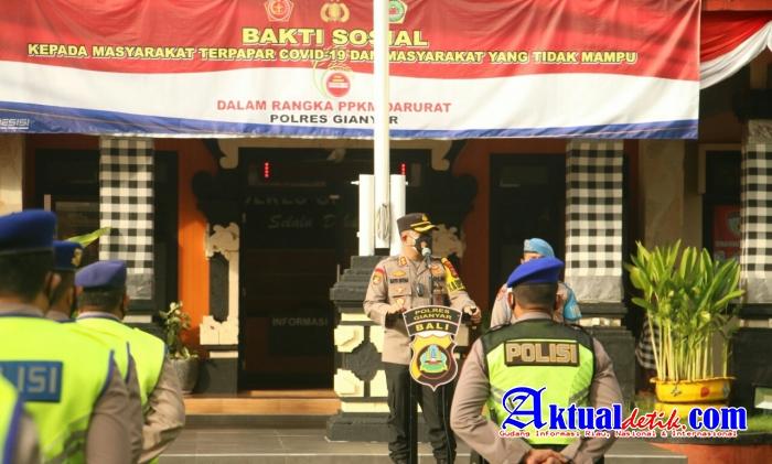 Kapolres Gianyar Apresiasi Anggota Selama Pelaksanaan PPKM Darurat