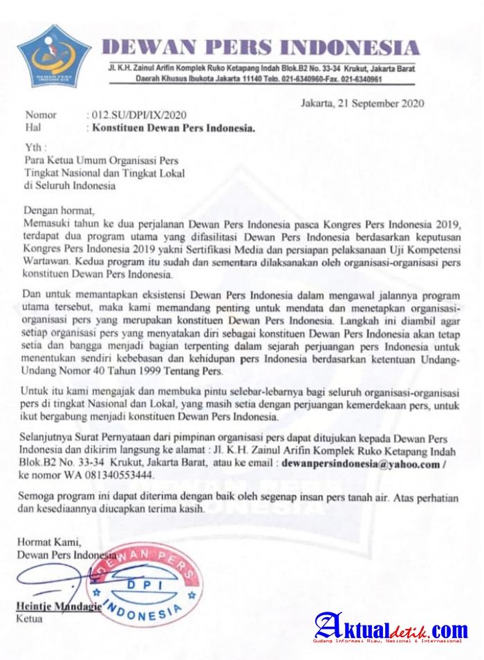 Dewan Pers Indonesia Rekrut Konstituen