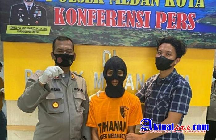 Reskrim Polsek Medan Kota Meringkus Satu Orang Pelaku Pengguna Narkotika Jenis Sabu-Sabu
