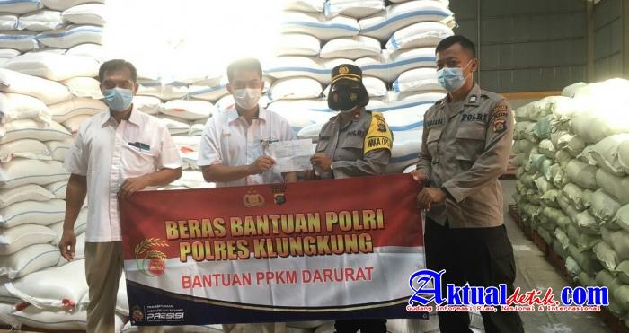 Beras Bantuan Polri Kepada Masyarakat Siap Didistribusikan