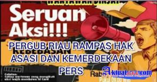 Ratusan Jurnalis Riau Akan Demo Gubernur Riau, Terkait Diskriminasi Pers