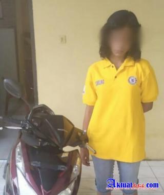 Gelapkan Sepeda Motor Mantan Suami, Seorang IRT Ditangkap Polsek Perbaungan