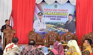 Pj Bupati Bengkalis Ekspos Refleksi Pembangunan Selama 2020