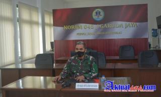 Kolonel Inf Dikdik Sadikin Ikuti Rapat Evaluasi Bidang Intelijen Semester I Tahun 2021