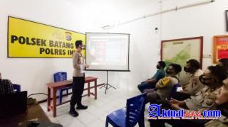 Kapolsek Batang Gangsal Briefing Personil, Terkait Commander Wish dan Program 100 Hari Kerja Kapolri