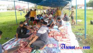 Mushalla Al-Mubin Laksanakan Qurban Hewan Sebanyak 65 Ekor Kambing dan 6 Ekor Sapi