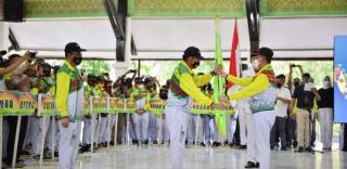 Atlet Kab.Siak Resmi Berangkat Menuju PON XX di Papua