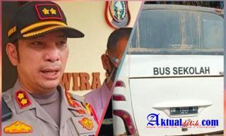 Kapolres Pelalawan Akui Ada Korban Tewas Dalam Laka Lantas Bus PT MUP Dan Sepeda Motor