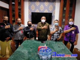 Bupati Jembrana Menerima Audensi Pengurus DPD PJID Provinsi Bali