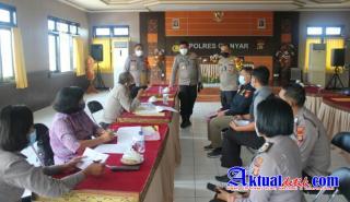 Kapolres Gianyar Sambut Kunjungan Tim Supervisi Biro Rena Polda Bali