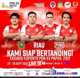 Ikuti Eksibisi E-Sports PON XX Papua, utusan Keluarga Pokdar Siap Mengharumkan Nama Riau