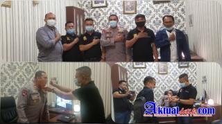 HUT ke - 75 Bhayangkara, Polsek Helvetia Dapat Kejutan Dari Pengurus Pewarta Polrestabes Medan