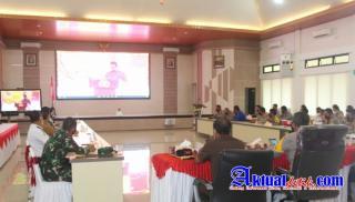Danrem 045/Gaya Hadiri Launching Aplikasi SIM Nasional Presisi