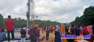 Bupati Pelalawan Hadiri Peletakan Tiang Pancang Pertama Pembangunan Jembatan Tambak-Sotol