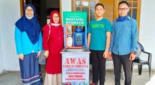 Momen Belajar di Rumah, 2 Siswa MTsN Ciptakan Automatic Wastafel
