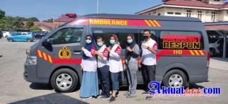 Batalion Vaksin Polda Riau Back Up Vaksinasi Lansia Di Kampar