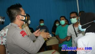Polres PematangSiantar Melaksanakan Vaksinasi Massal Tahap Ke-II Serentak Jajaran Polda Sumut