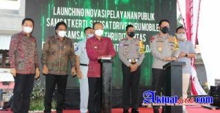 Kapolda Bali Hadiri Peresmian Layanan Samsat Kerthi, Samsat Drive Thru, Mobile Samsat Drive Thru