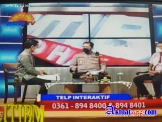 Kapolres Karangasem Hadiri Undangan Interaktif di Acara Hallo Kamtibmas Bali TV