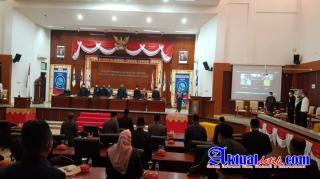 Kasiter Kasrem 045/Gaya Wakili Danrem Rapat Paripurna DPRD Provinsi Kepulauan Babel