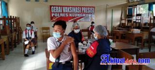 Tuntaskan Vaksinasi Covid-19 anak usia 12-17 tahun di SMA N 1 Banjarangkan