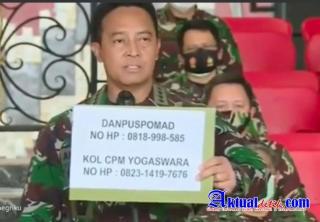 Jenderal TNI Andhika Tegas, Ancam Prajurit TNI Dihukum Berlapis Dan Pemecatan