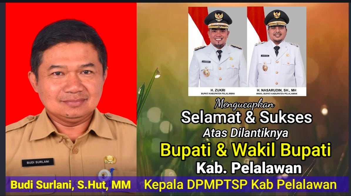 Iklan Ucapan Kepala DPMPTSP Pelalawan